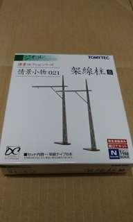 全新現貨 Tomytec 021 架線柱B 火車鐵道模型 情景小物 N比例 1/150 (not Tomix Kato)
