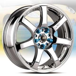 17吋鋁圈 5孔114 7粗爪大爪上路 四款現貨任挑 搭配215/45/17國產輪胎 高CP完工價