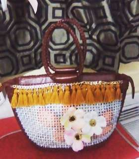 Rattan bag with DIY design by lexart
