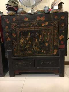 Rare Black Chinese Authentic Cabinet