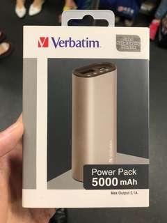 流動充電器 尿袋 5000mAh Verbatim 充電寶