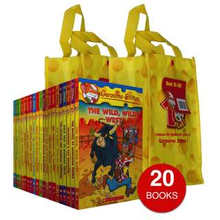 GERONIMO STILTON COLLECTION - SET B (20 BOOKS)