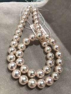 皇后級 日本極光天女Akoya真珠項鏈9-9.5mm