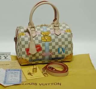 Louis Vuitton Speedy 25 Azur Summer Trunk Collection