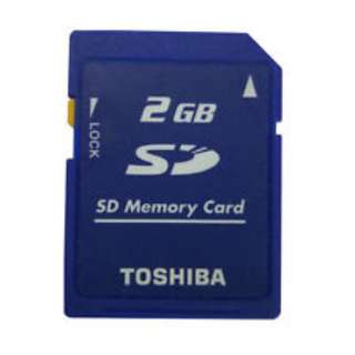 2GB Toshiba SD 2GB Secure Digital Memory Card