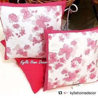 Kylla Home Decor - Pink Butterfly Cushions