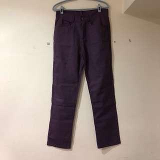 🚚 全新紫色夏日必備修身長褲