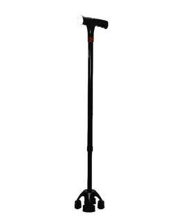 🚚 Small Quad Smart Walking Stick With Alarm And Lights