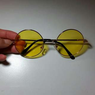 Vintage yellow lens glasses