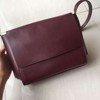 ZALORA LEATHER HAND BAG