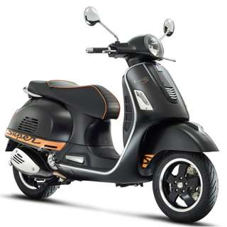 Vespa GTS 300 Super Sport OTR B4 Insurance $18k Free Top-Box D/P $500 or $0 With out insurance (Terms and conditions apply. Pls call 67468582 De Xing Motor Pte Ltd Blk 3006 Ubi Road 1 #01-356 S 408700.