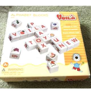 Voila Wooden Alphabet Blocks