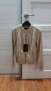 Brandnew Marc New York Beige Leather Jacket Xsmall