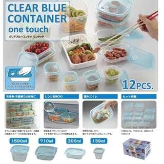 日本密封保鮮盒12入組-預購  00082