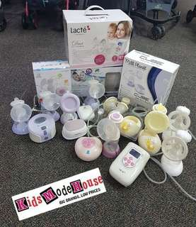 Breast pump display unit
