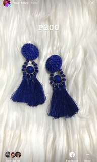 HM Blue Tassel Earrings