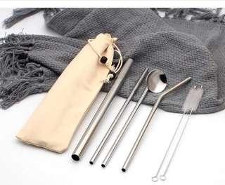Reusable stainless Steel straw set - Set B
