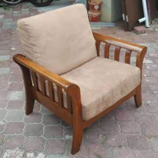 Kerusi Jati Teakwood Arm Chair * 8-06 D