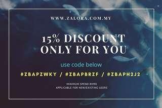 ZALORA 15% discount