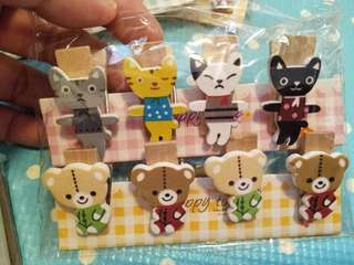 Korea stationary wooden clip cute gift diy photo clip