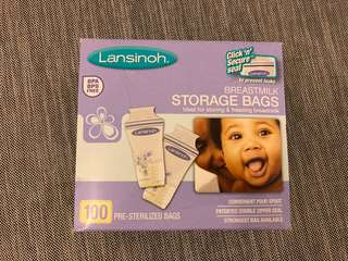 Lansinoh Breastmilk Storage Bags - 100pcs