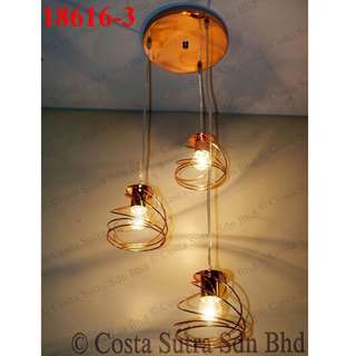 LSH Stylish Decorative Pendant Ceiling Light 18616/3