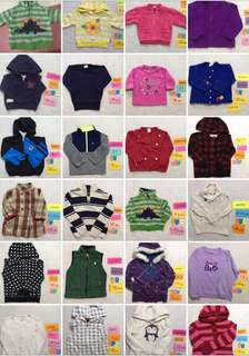 40pcs branded hoodies/jackets