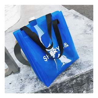 [ #TBG4CL001 ] 2018 Jelly Bags PVC Tote Bag  Summer Bags Fashion - 4 Colours - #ToteBlue