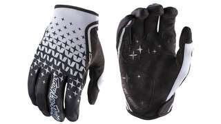 🆕! Troy Lee Designs MTB Grey/Black Full Finger Protective Gloves   #OK