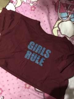Girls Rule Crop top