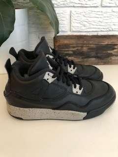 RARE Nike Air Jordan 4 retro Oreo Tech Black Grey Black Boys size US 2.5