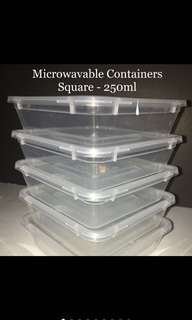 Microwavable Containers 250ml (5pcs/pk)