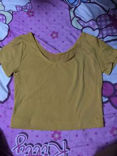Mustard Yellow Crop Top