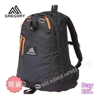 最平行貨 美國戶外品牌 Gregory Day Pack 26L Black Classic Backpack 原祖黑書包 經典旅行袋