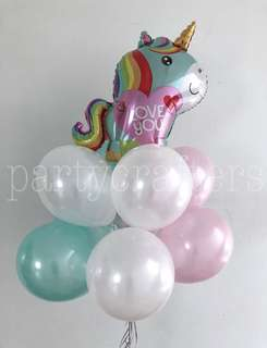 Helium Balloons + Unicorn