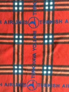 Authentic Turkish 🇹🇷 Airlines Turk Hava Yollari Blanket