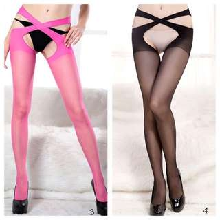 Petite Black Pink Stockings