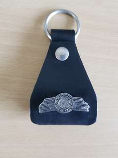 Genuine Harley Davidson Key Ring in Genuine Leather