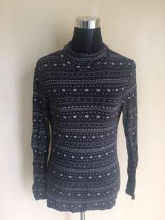 Aztec Print Turtleneck
