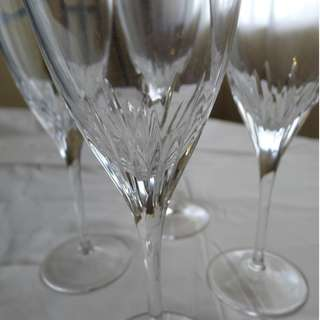 Marquis by Waterford Crystal CLARIA GOBLETS- 4