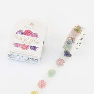 [IN] [WT] Flower House: Succulents Washi Tape (15mm)