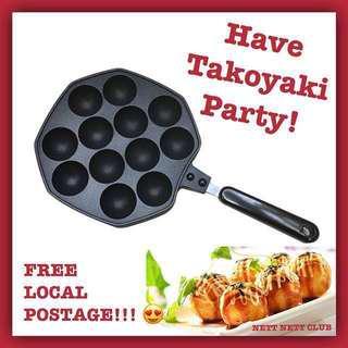 🚚 *NEW!* - 12 Holes Non-stick Takoyaki Pan / #CarouPay
