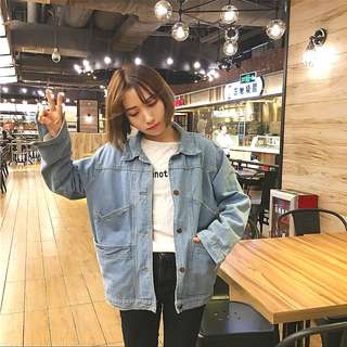 *Ready Stock*Korean BF style Denim Jacket student casual