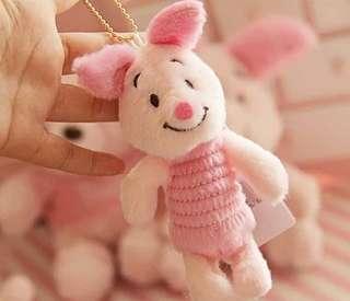 🚚 📣特價 櫻花粉色小熊維尼/小豬絨毛吊飾♡預購♡