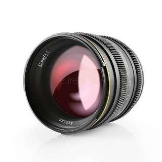 Kamlan 50mm f1.1 lens micro four thirds mft for Panasonic Olympus