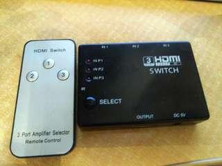 HDMI 1開3 有搖控 包平郵 或油塘交收