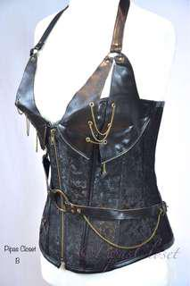 XS small medium goth steampunk cosplay corset