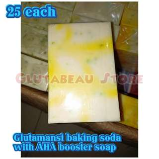 GLUTAMANSI BAKING SODA WITH AHA BOOSTER SOAP