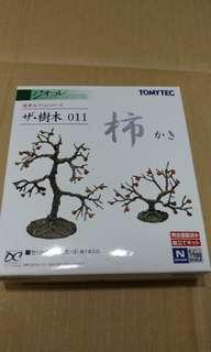 全新現貨 Tomytec 樹木 011 柿火車鐵道模型 情景小物 N比例 1/150 (not Tomix Kato)