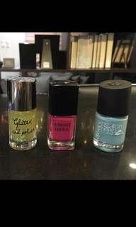 Branded nail polish  (3pcs)